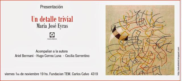 Flyer presentación del libro